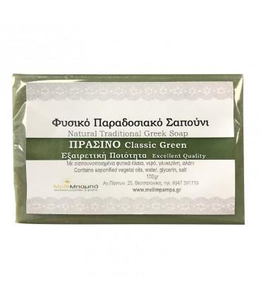Melimpampa Классическое зеленое натуральное мыло