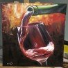 Fire wine - Огненное вино - Angelina - 50x70 cm