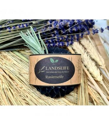 Landseife - мыло для бритья с активированным древесным углем