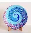 Тарелка ручной работы синий павлин