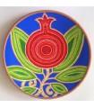 Тарелка ручной работы уникальное растение