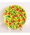 Тарелка ручной работы желтые/красные цветы