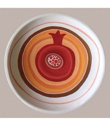 Тарелка ручной работы грейпфрут