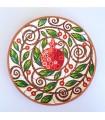Тарелка ручной работы серединка грейпфрута