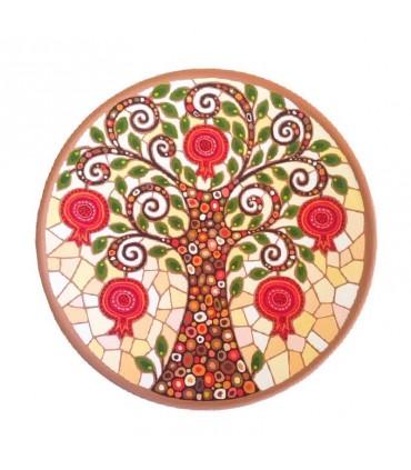 Тарелка ручной работы Яблоня