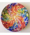 Тарелка ручной работы Мандала разноцветная