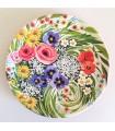 Венок из разноцветных цветов из тарелок ручной работы
