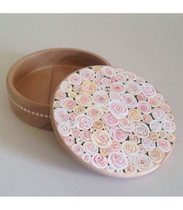 Шкатулка для украшений ручной работы поле белой розы