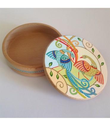 Шкатулка для украшений ручной работы бой павлина