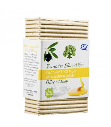 Elaa OLIVE OIL SOAP WITH MILK AND HONEY SCENT, 85г