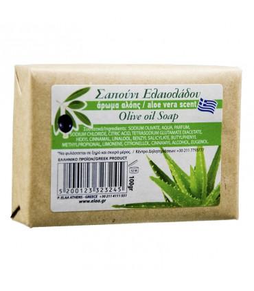 Elaa OLIVE OIL SOAP с ароматом ALOE VERA, 100г