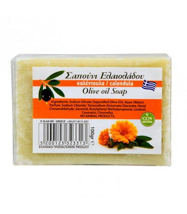 Elaa OLIVE OIL SOAP WITH RINGLED FLOWER SCENT, 100г
