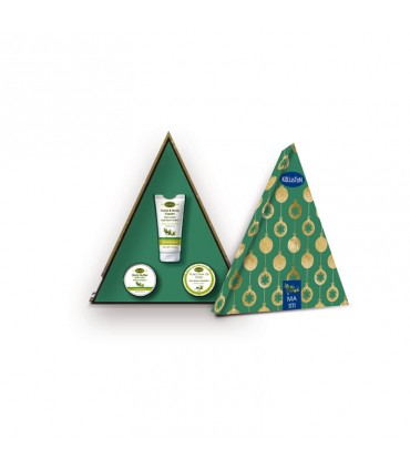 Рождественская подарочная коробка (масло мастихи)