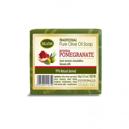 Мыло - Kalliston - оливковое масло и гранат - 100 г