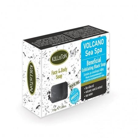 Черное мыло - экстракт вулканического песка - 110gr