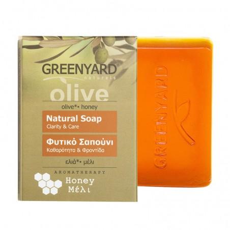 Натуральное оливковое мыло - с мёдом - 100гр - Greenyard