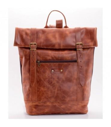 Aspriter Кожаный рюкзак тампа коричневый