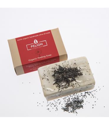 Органическое мыло - пилинг со вкусом мака и герани