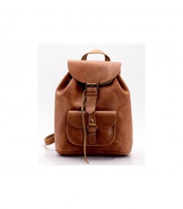 Кожаный рюкзак наружный корпус