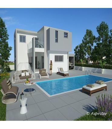 Новый отдельно стоящий дом Кипр