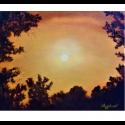 """Холст """"Golden sky"""" - Angeliki"""