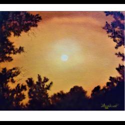 "Холст ""Golden sky"""