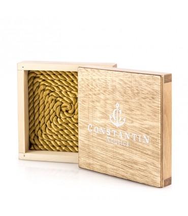 Браслет Constantin Maritimes из парусной веревки, желтое золото 14 карат, коричневый цвет