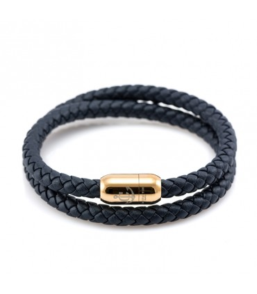 Кожаный браслет Constantin Maritimes, синий темно-синий
