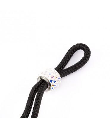 Браслет Constantin Maritime из парусной веревки, черный с кристаллами Swarovski