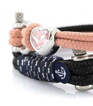 Партнерские браслеты Constantin Maritime, браслеты дружбы, сделанные из парусной веревки с Swarovski