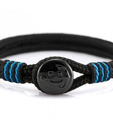 Constantin Морской браслет из парусной веревки, черного/синего цвета