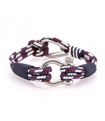 Constantin Морской браслет из парусной веревки, красный/белый/синий