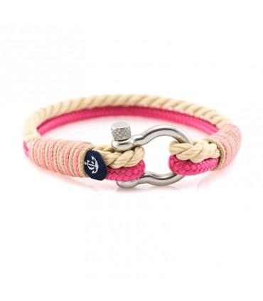 Constantin Морской браслет из парусной веревки, розового цвета