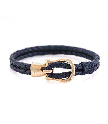 Constantin Морской кожаный браслет, синий