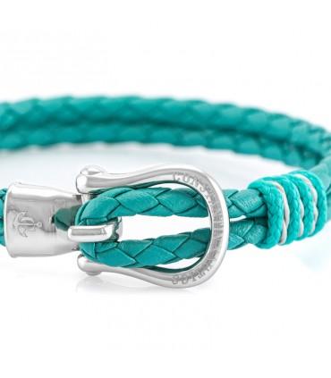 Constantin Морской кожаный браслет, зеленый