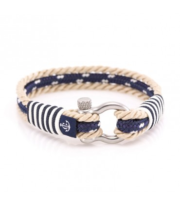 Constantin Морской браслет из парусной веревки, синий/бежевый