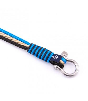 Constantin Морской браслет из парусной веревки, светло-голубой/черный/бежевый
