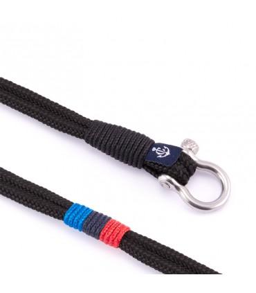 Constantin Мраморный браслет из парусной веревки, черный/синий/красный