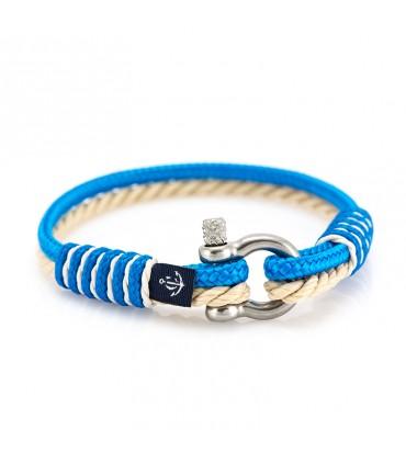 Constantin Морской браслет из парусной веревки, бежевого/светло-голубого цвета