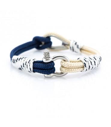 Constantin Морской браслет из парусной веревки, бежевого/белого/синего цвета