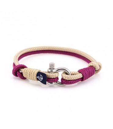 Constantin Морской браслет из парусной веревки, фиолетового/бежевого цвета