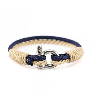 Constantin Морской браслет из парусной веревки, синий тёмно-синий цвет/бежевый
