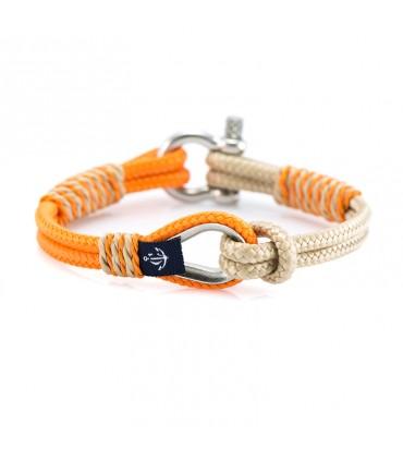 Constantin Морской браслет из парусной веревки, оранжево-бежевого цвета