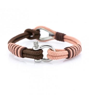 Constantin Морской браслет из парусного каната, розового/коричневого цвета