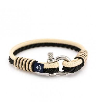 Constantin Морской браслет из парусной веревки, бежевого/черного цвета