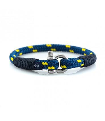 Constantin Морской браслет из парусного каната, синий/желтый