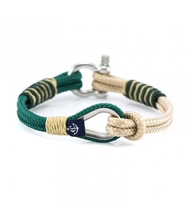 Constantin Морской браслет из парусной веревки, зеленого/бежевого цвета