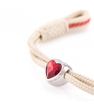 Constantin Морской браслет из парусной веревки, бежевого цвета со Swarovski