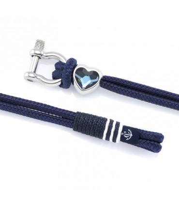 Constantin Морской браслет из парусной веревки, голубой флот со Swarovski
