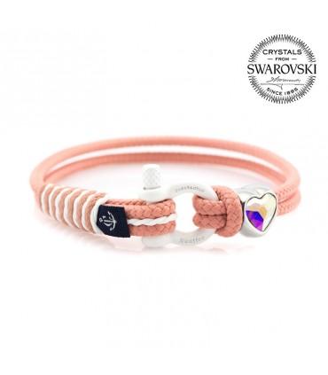 Constantin Морской браслет из парусной веревки, розового цвета со Swarovski